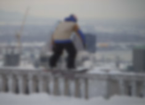 Snowboarding In Downtown Montreal