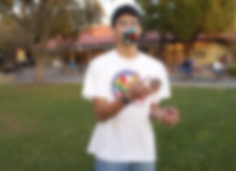 Solving A Rubik's Cube While Juggling