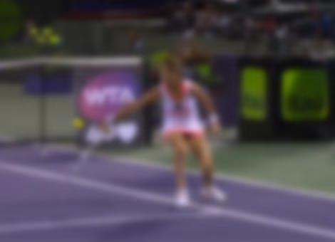 Incredible Spinning Tennis Shot