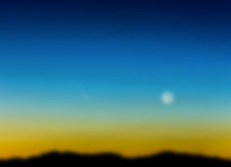 Comet and Crescent Moon Time-Lapse