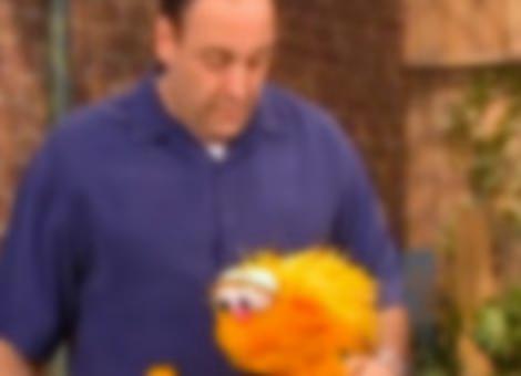 James Gandolfini on Sesame Street