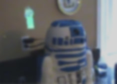 Hologram-Projecting R2-D2 Birthday Cake