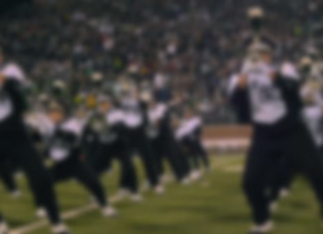 Marching Band Performs The Fox