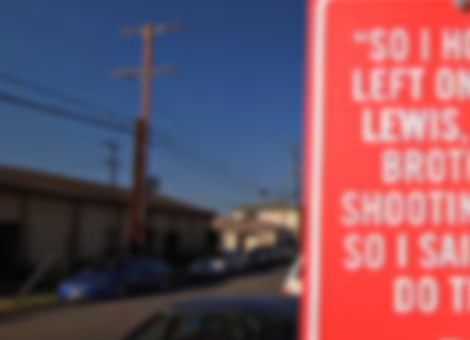 Rap Quote Street Signs: Los Angeles
