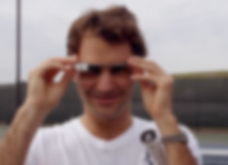 Roger Federer Through Glass