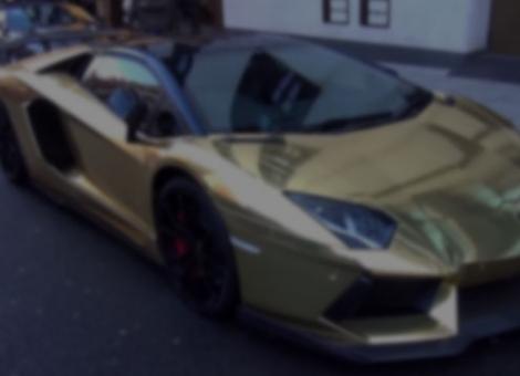 Gold-Wrapped Lamborghini