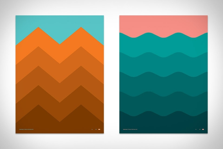Draplin Thick Lines Posters