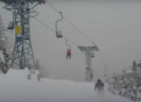 Skiing the Old-School Way
