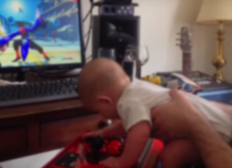 Baby Beats Street Fighter V