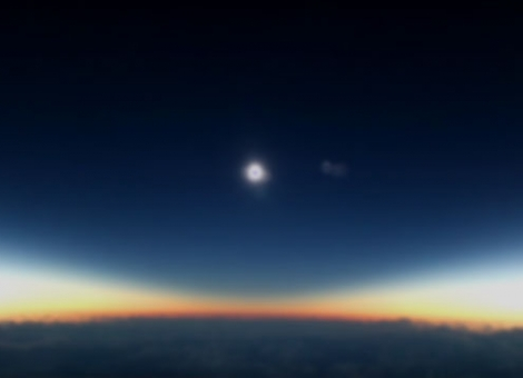 Solar Eclipse From the Air