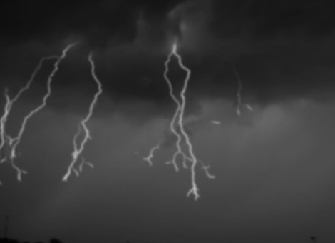 Lightning Storm in Slow-Motion