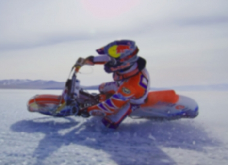 Ice Speedway Racing Over a Frozen Lake