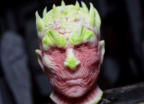 Night King Watermelon Carving
