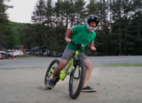 Pro Mountain Biker Rides Walmart Bike Down Double Black Diamond Trail