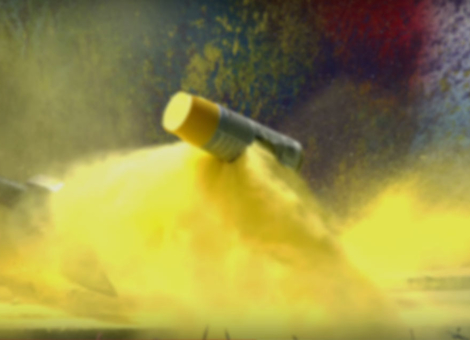 Slow-Motion Exploding Spray Paint
