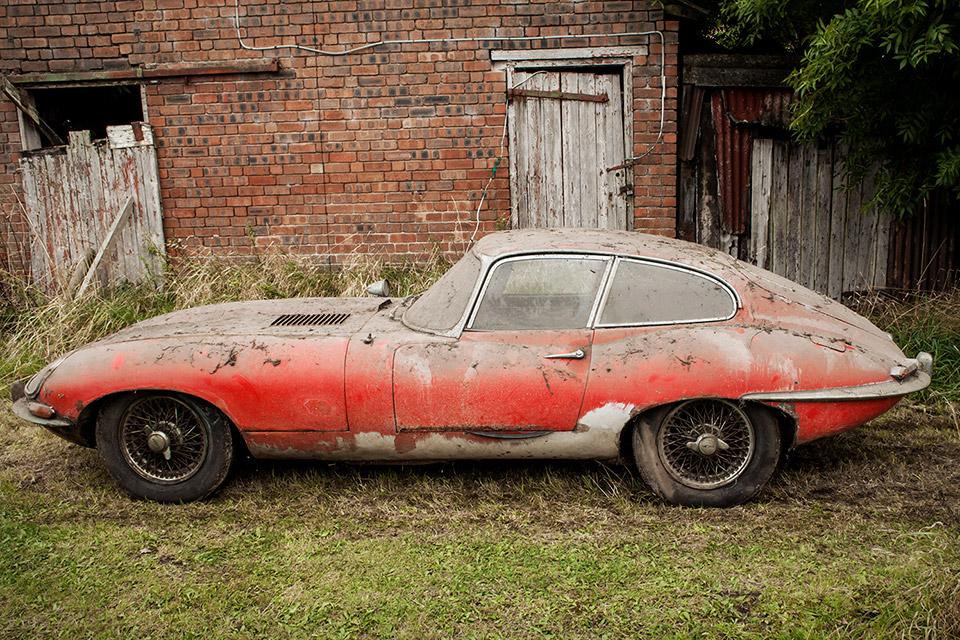 1964 Jaguar E Type 3.8 Coupe Barn Find | Uncrate