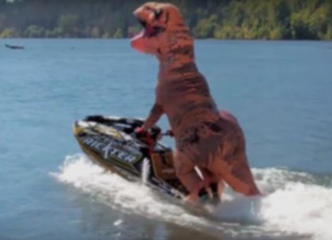 T-Rex On A Jet Ski