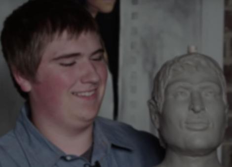 Sculpting Blind People's Loved Ones