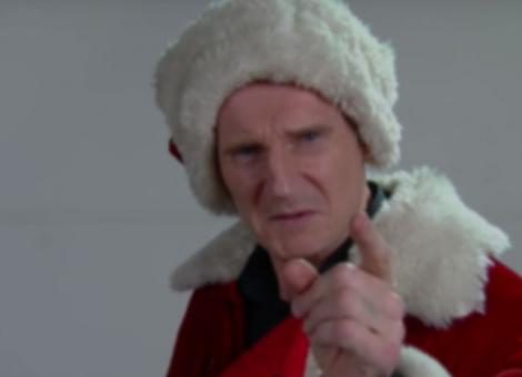 Liam Neeson's Mall Santa Audition