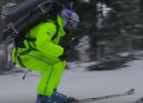 Jetpack Skiing