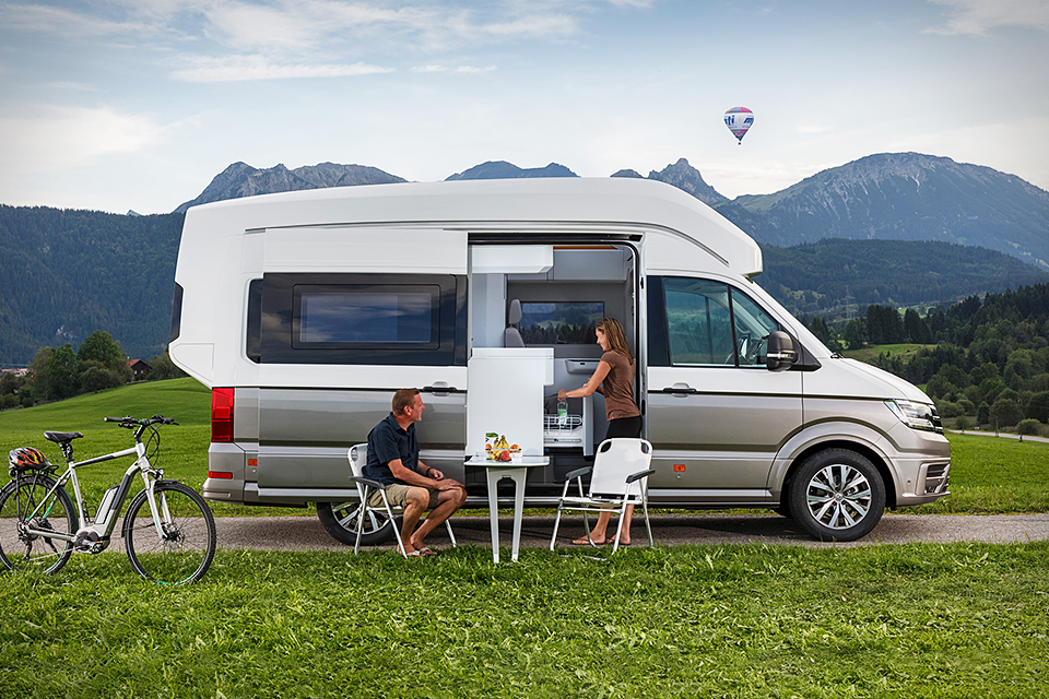 of firth in camper stock motorhome volkswagen vw with view photo rv thurso background east van pentland