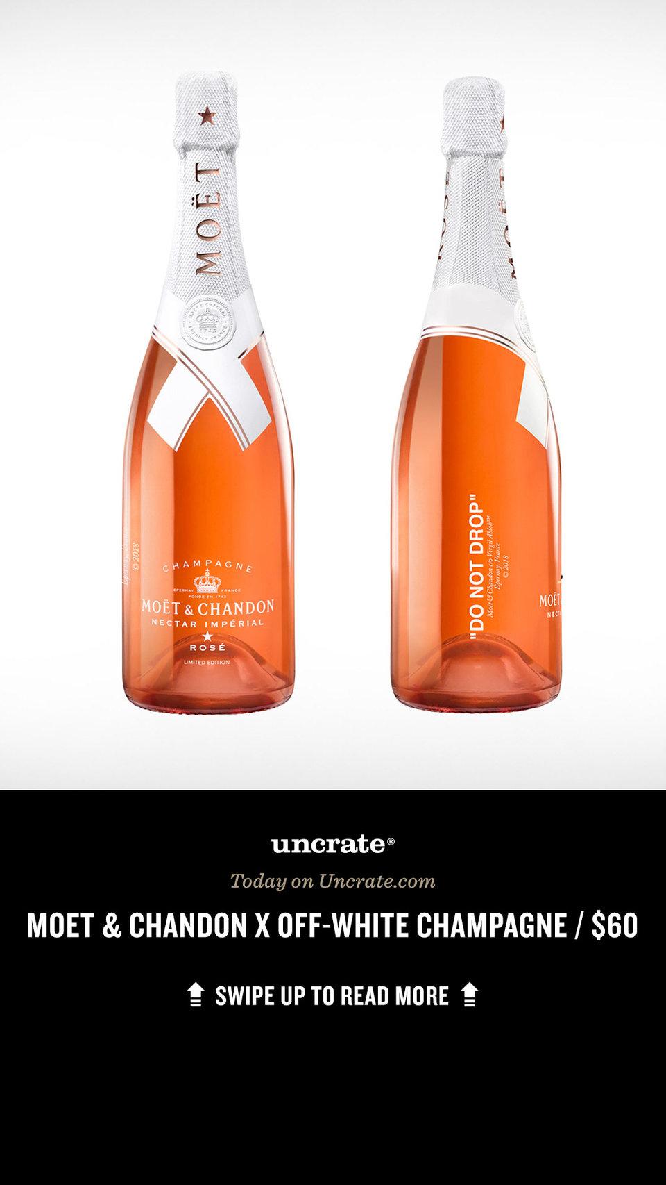 3bac7632e41 Moet Chandon X Off White Impérial Rosé Chagne Uncrate. Virgil Abloh ...