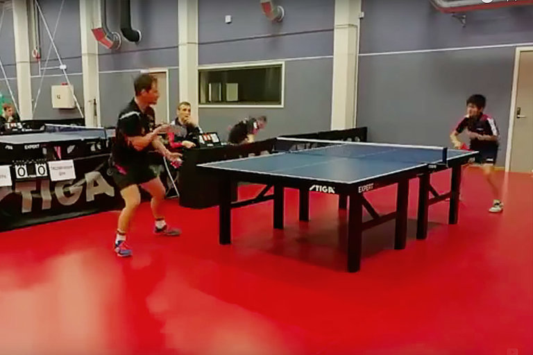 Under-The-Table Table Tennis Return
