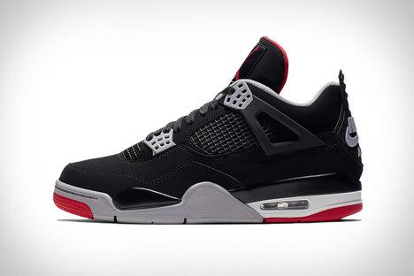 298b76fe41c3 Nike Air Jordan IV Bred Sneakers