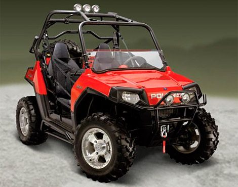 The RZR s rear mounted engine