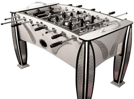 Diamond plate foosball table uncrate - Calcio balilla design ...