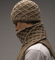 Knitting Pattern For Mens Scarf And Hat : MENS SCARF PATTERNS KNIT KNITTING