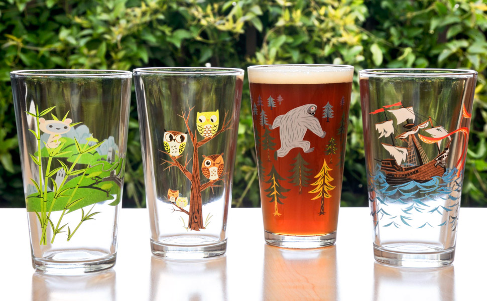 Gama-Go Pint Glass Four Pack