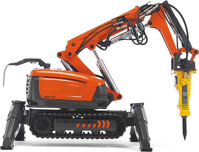 Husqvarna Dxr 310 Demolition Robot Uncrate