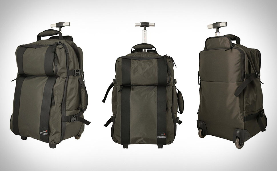 Hideo Feather Carry-On Trolley