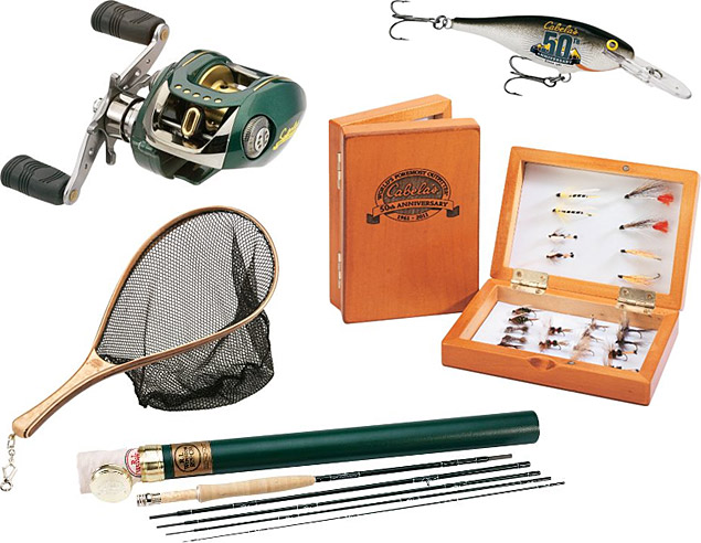 Cabela's 50th Anniversary Fishing Gear
