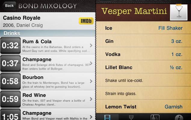 Bond Mixology App