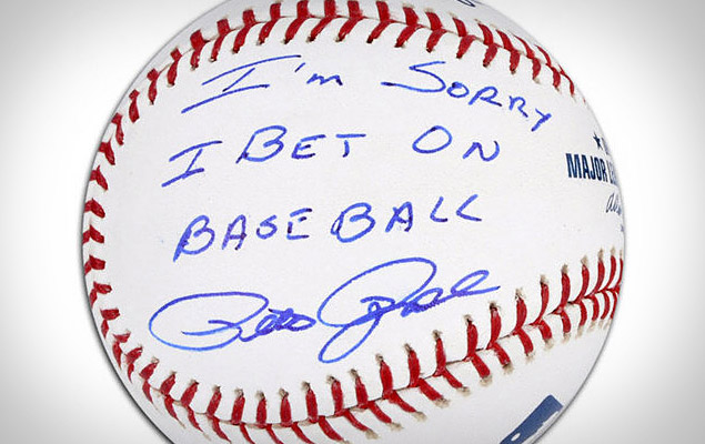 Pete Rose Apology Autographed Baseball