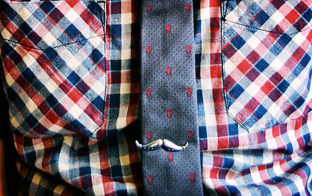Moustache Tie Clip