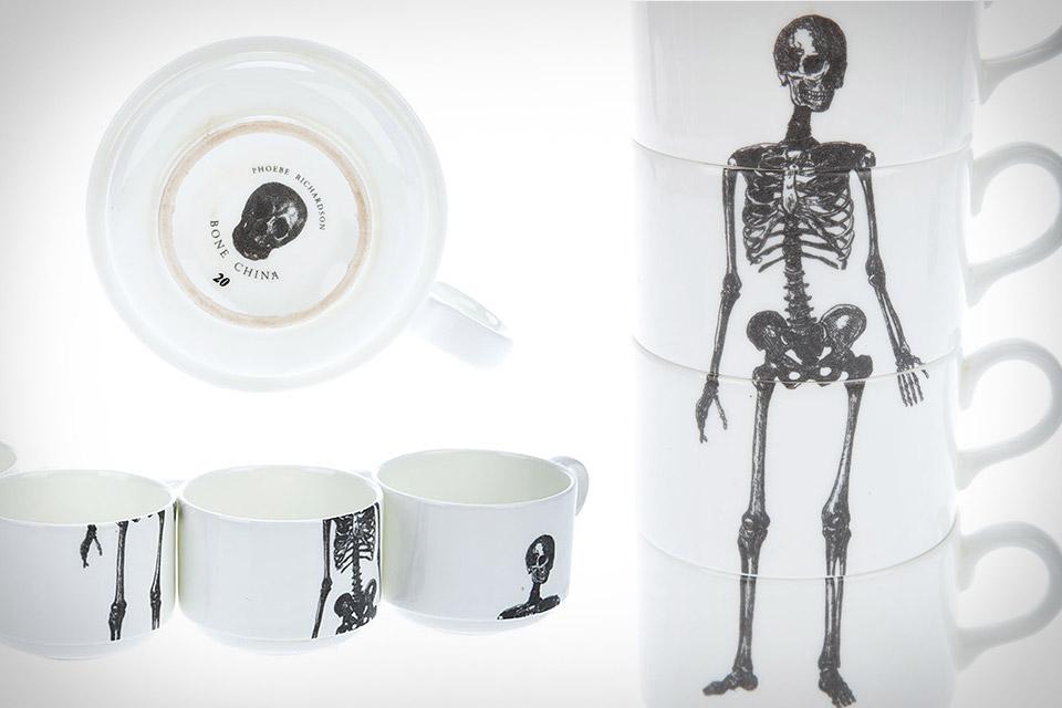 Stackable Skeleton Coffee Mugs