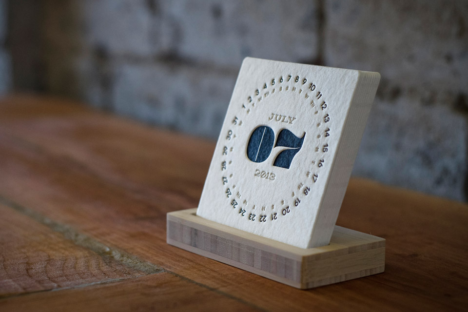 type letterpress calendar uncrate