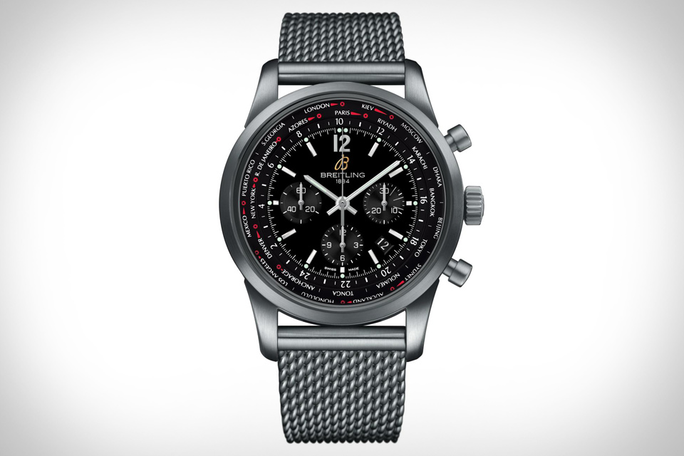 Breitling Transocean Chronograph Unitime Pilot Watch