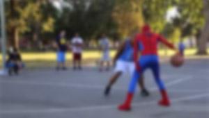 Spider-Man Crashes Pick-Up Basketball Game