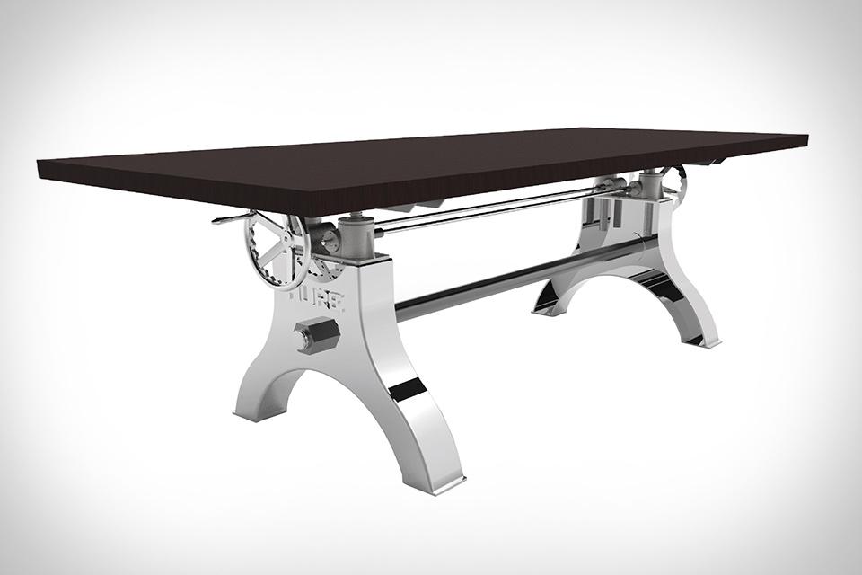 Vintage Industrial Hure Crank Table