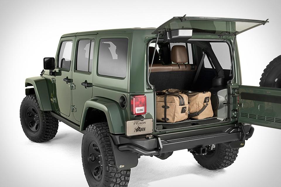 Rescue Green Jeep >> Filson x AEV Jeep Wrangler | Uncrate