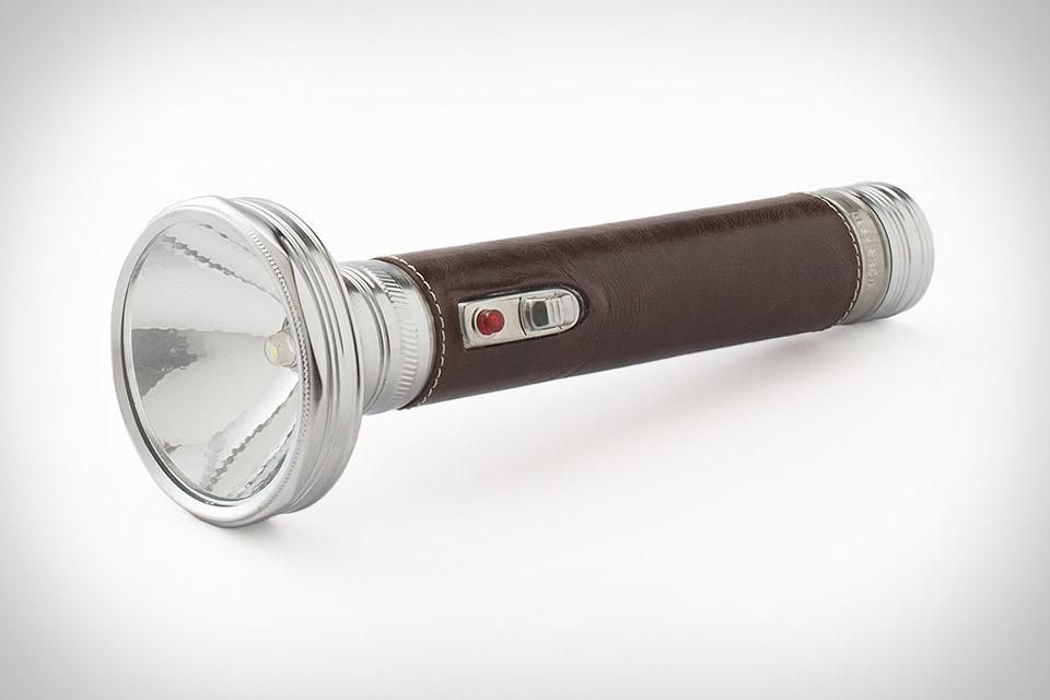 Schoolhouse Electric Leather Clad Flashlight