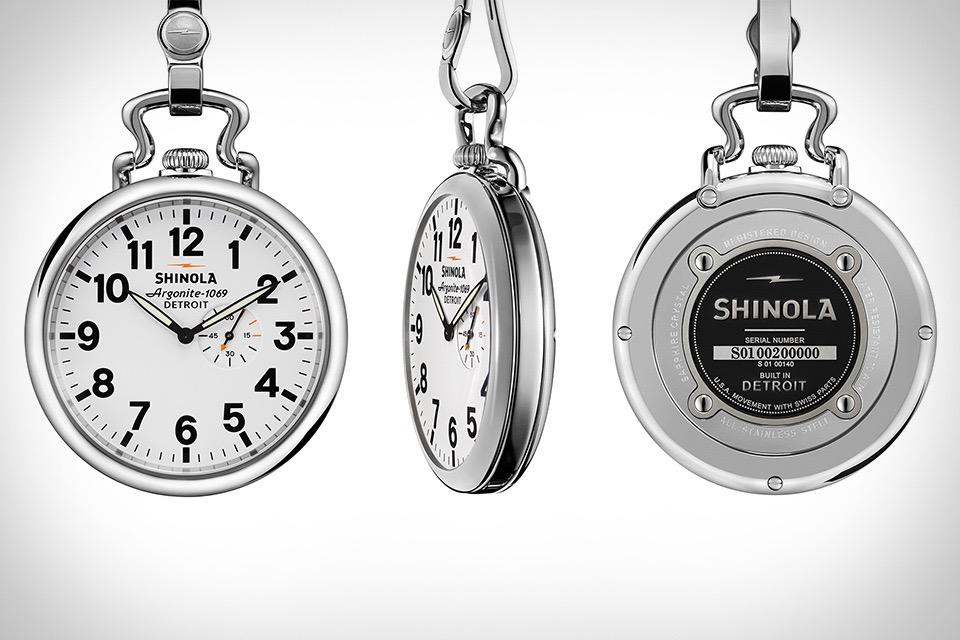 Shinola Runwell Pocket Watch