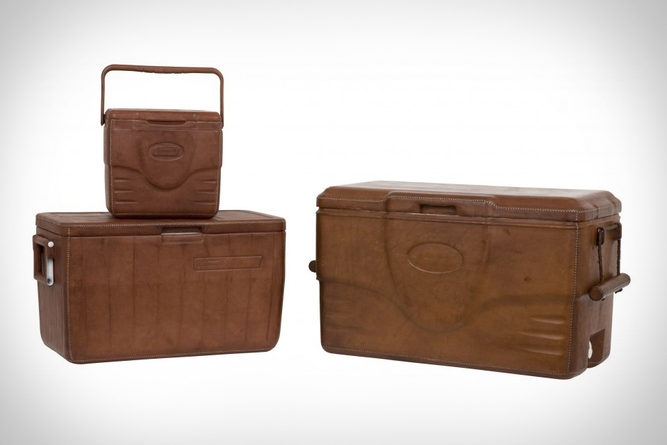 Leather Coleman Coolers | Uncrate
