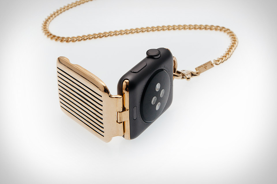 f79af6df8 Bucardo Apple Pocket Watch | Uncrate