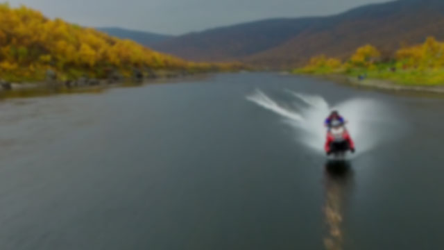 World Record Snowmobile on Water