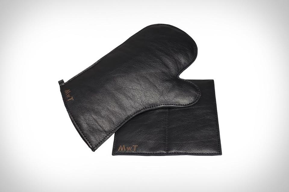 Malle W. Trousseau Leather Oven Mitt & Pot Holder